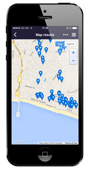 Search via map